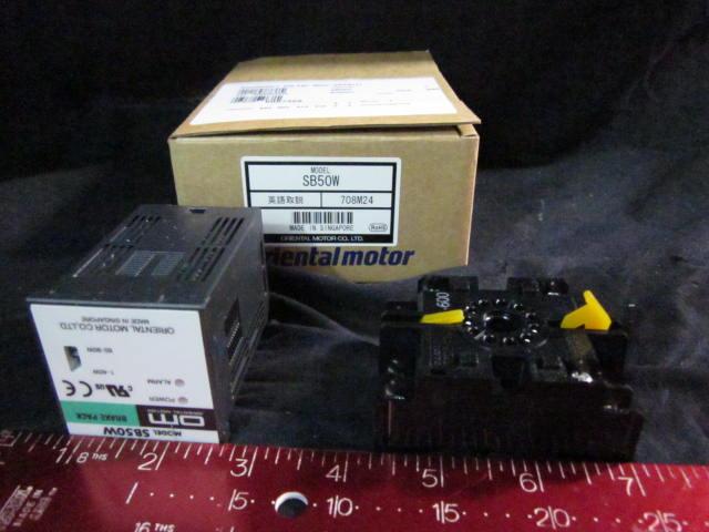 motor Controller ORIENTAL MOTOR SB50W Motor Brake Controller, OMRON P2CF-11-600, SOURCE 24V-0.06A, APPLICABLE MOTOR MAX.90W, 100-115V~ 50/60HZ