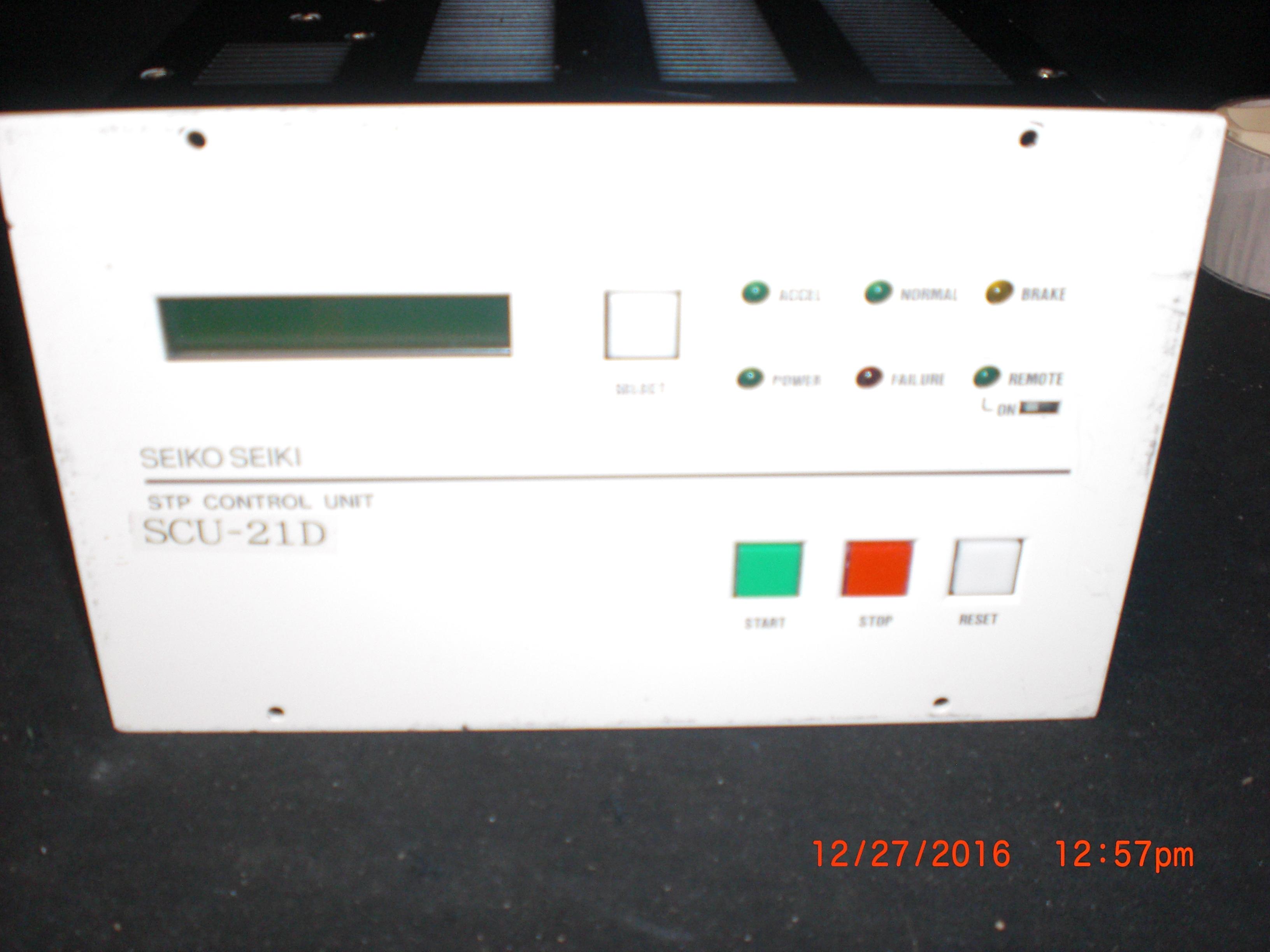 Controller SEIKO SEIKI SCD-21D STP Control Unit Turbo Pump