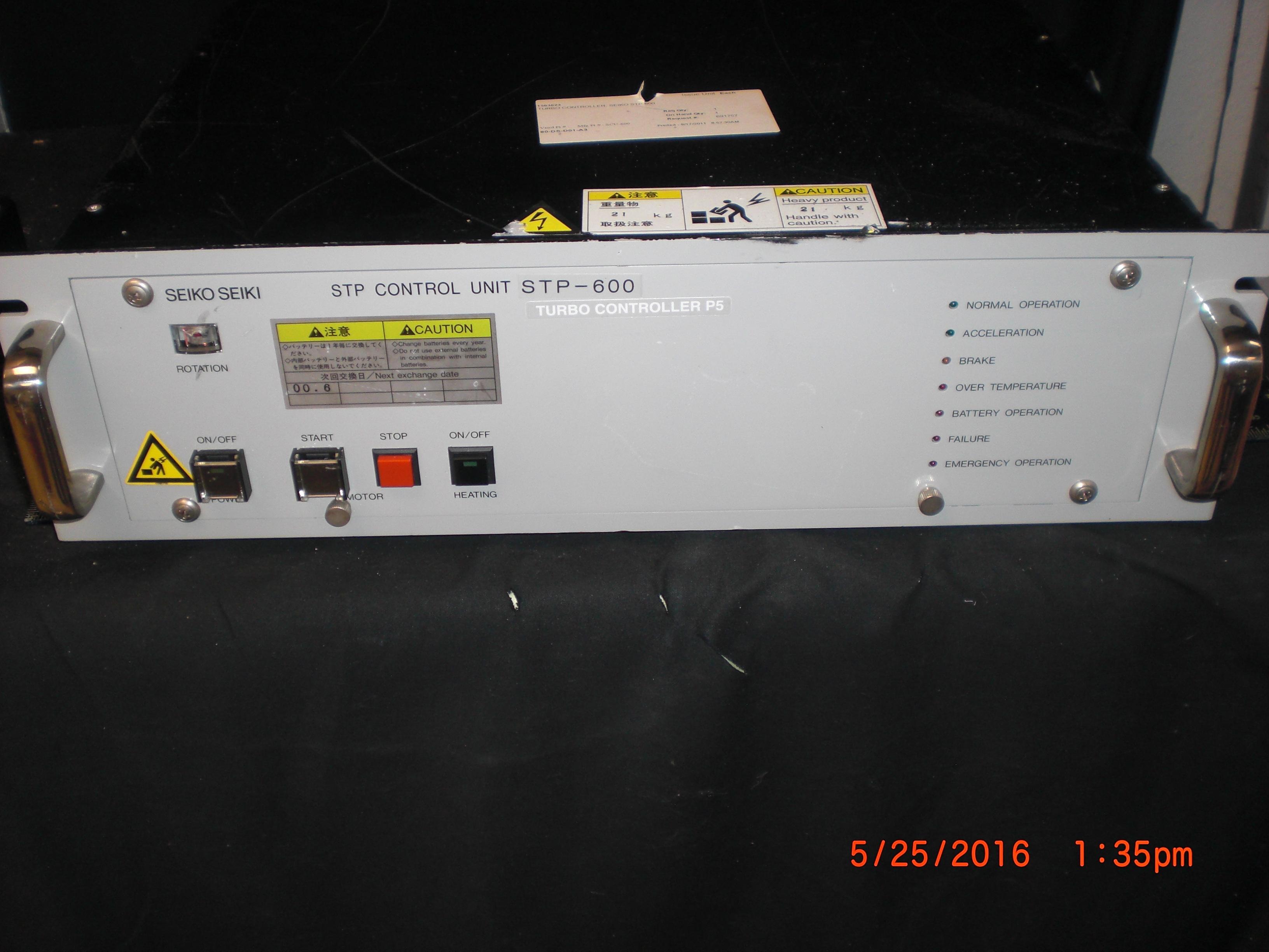 Controller SEIKO SEIKI SCU-600 Controller STP-600 Turbo Molecular Pump