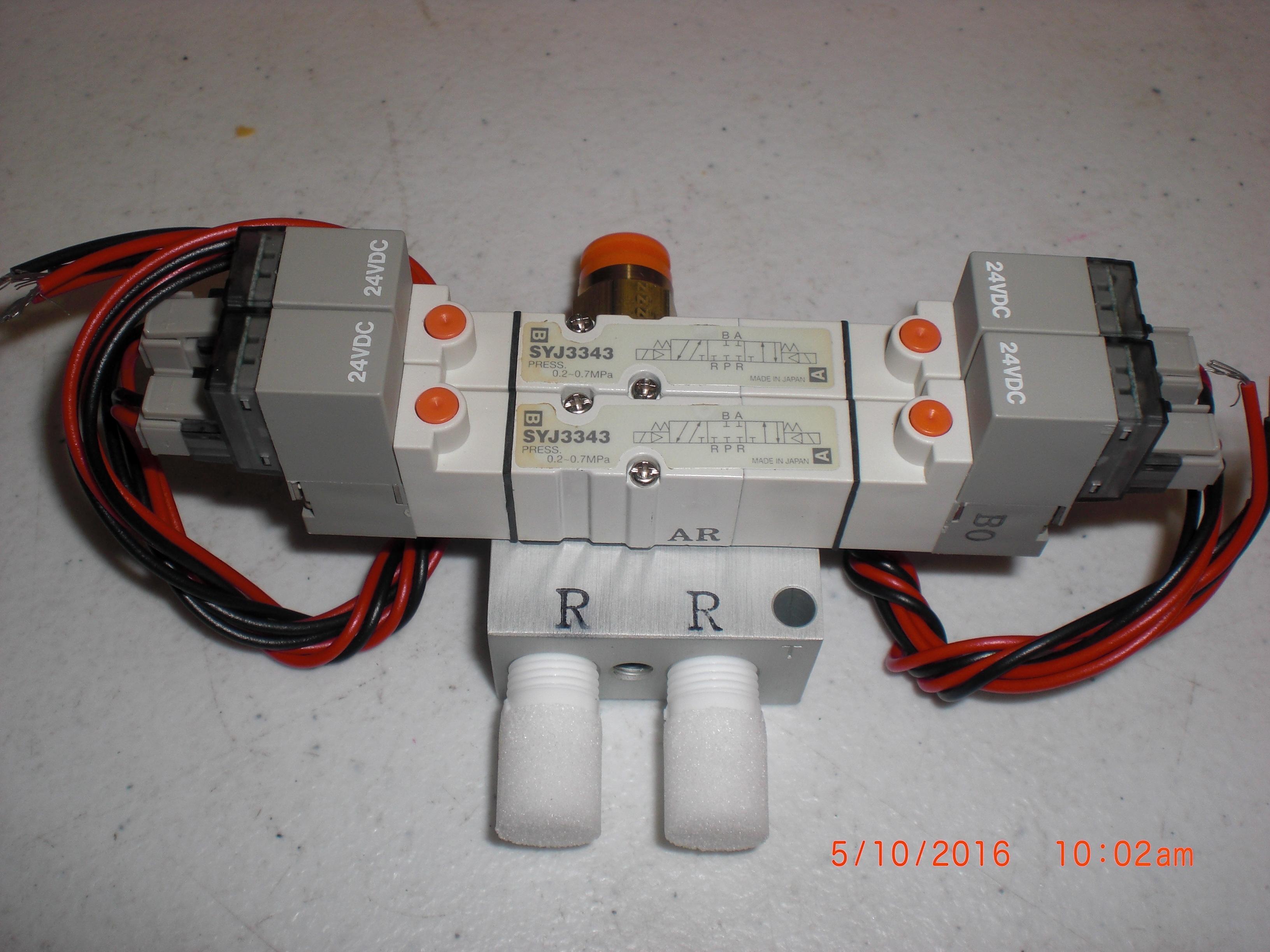Valve SMC SYJ3343 2 position manifold valve 24vdc