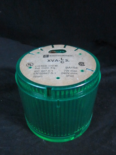 Lamp TELEMECANIQUE XVA-C33 GREEN LIGHT CAP, 7W MAX. 240V MAX.