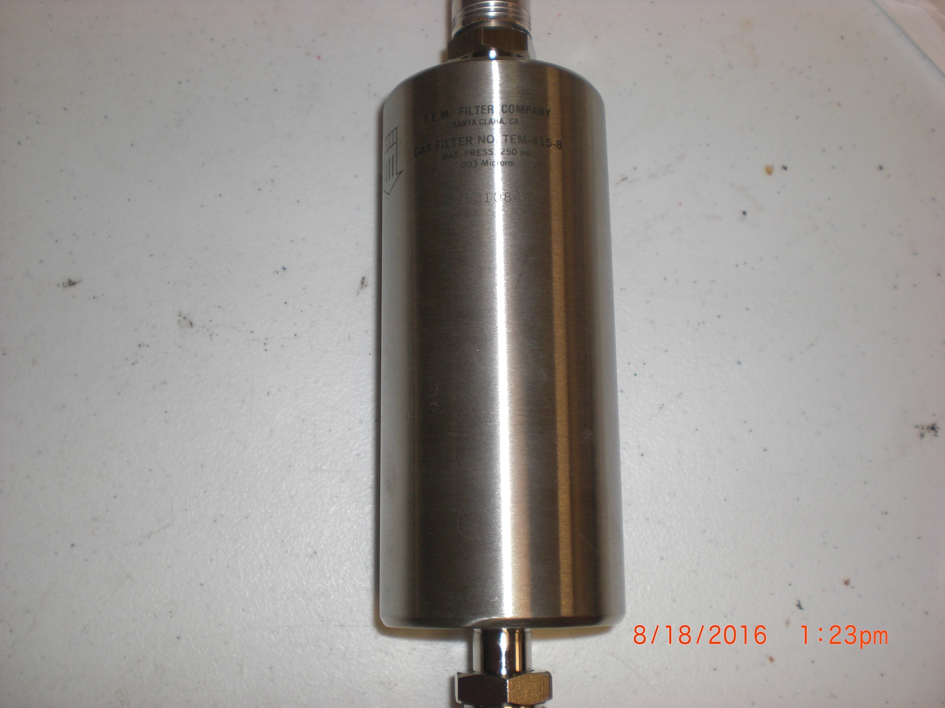 Filter  T.E.M. FILTER CO. TEM-415-8 Filter Gas 0.003um 1/2MVCR high flow