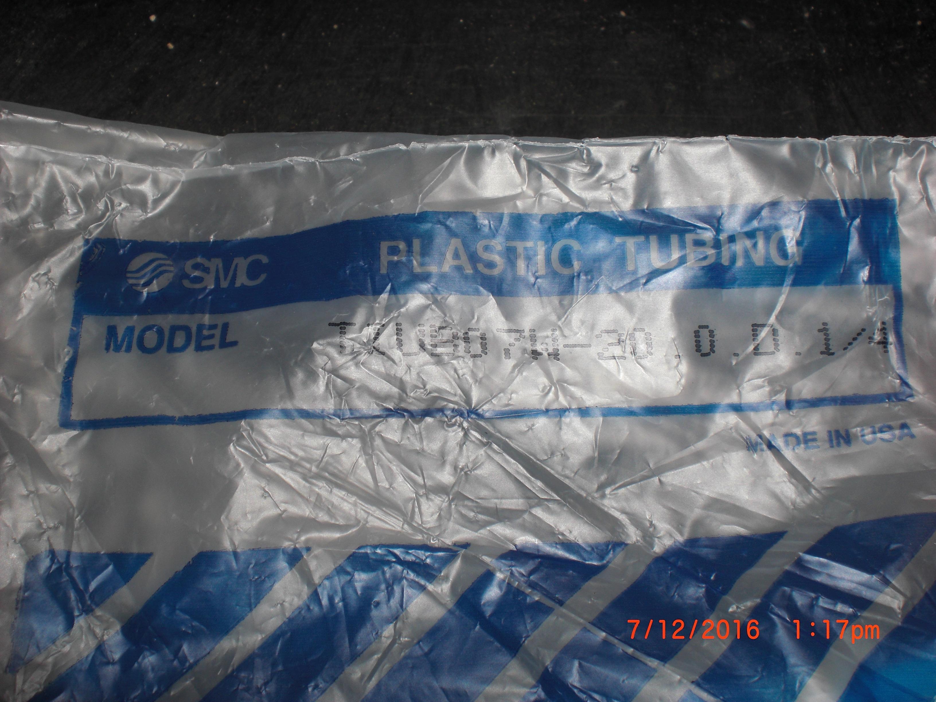 Tubing SMC TIUB07W-20 50ft TUBING,POLYURETHANE,.250 OD,WHITE