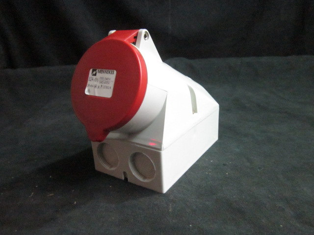 Electrical  TYPE-2 Receptacle  SURFACE, 32A-6H, 200-346V, 240-415 MENNEKES 20162A