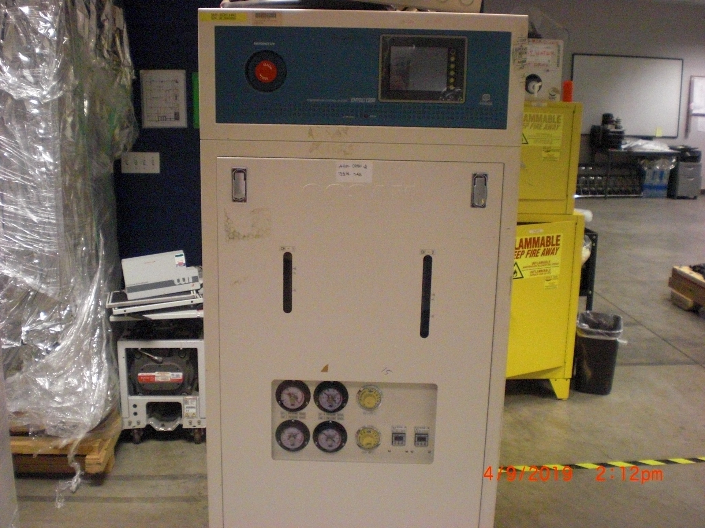 Chiller Cosam BCU-L252RS2-TEAM TOKYO ELECTRON (TEL) U2e-855SS ENTEC 1200