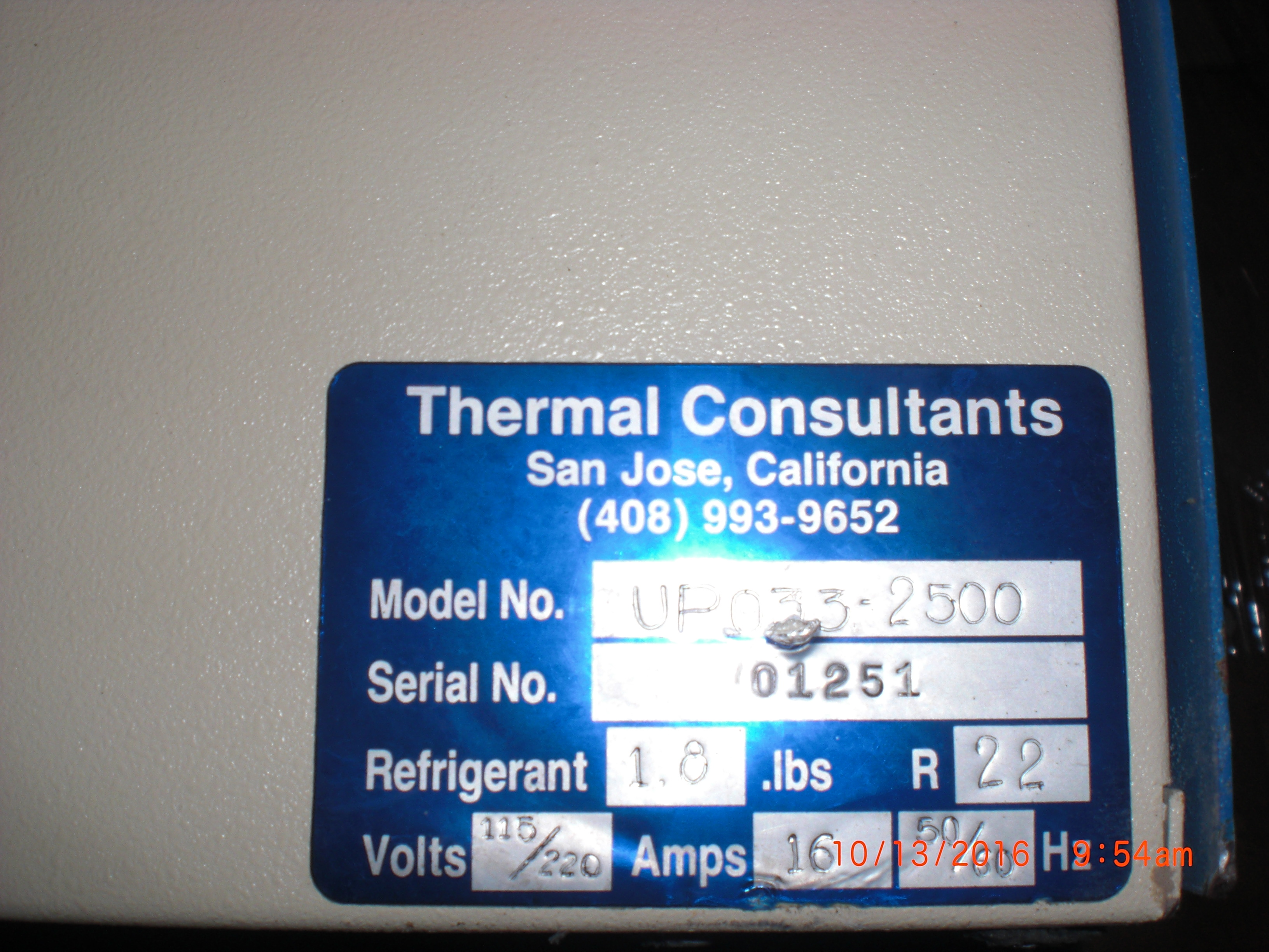 Chiller Thermal Consultants UP033-2500 TCU Recirculation Heating and Chiller Unit,  115-220V, 16A, 50/60Hz