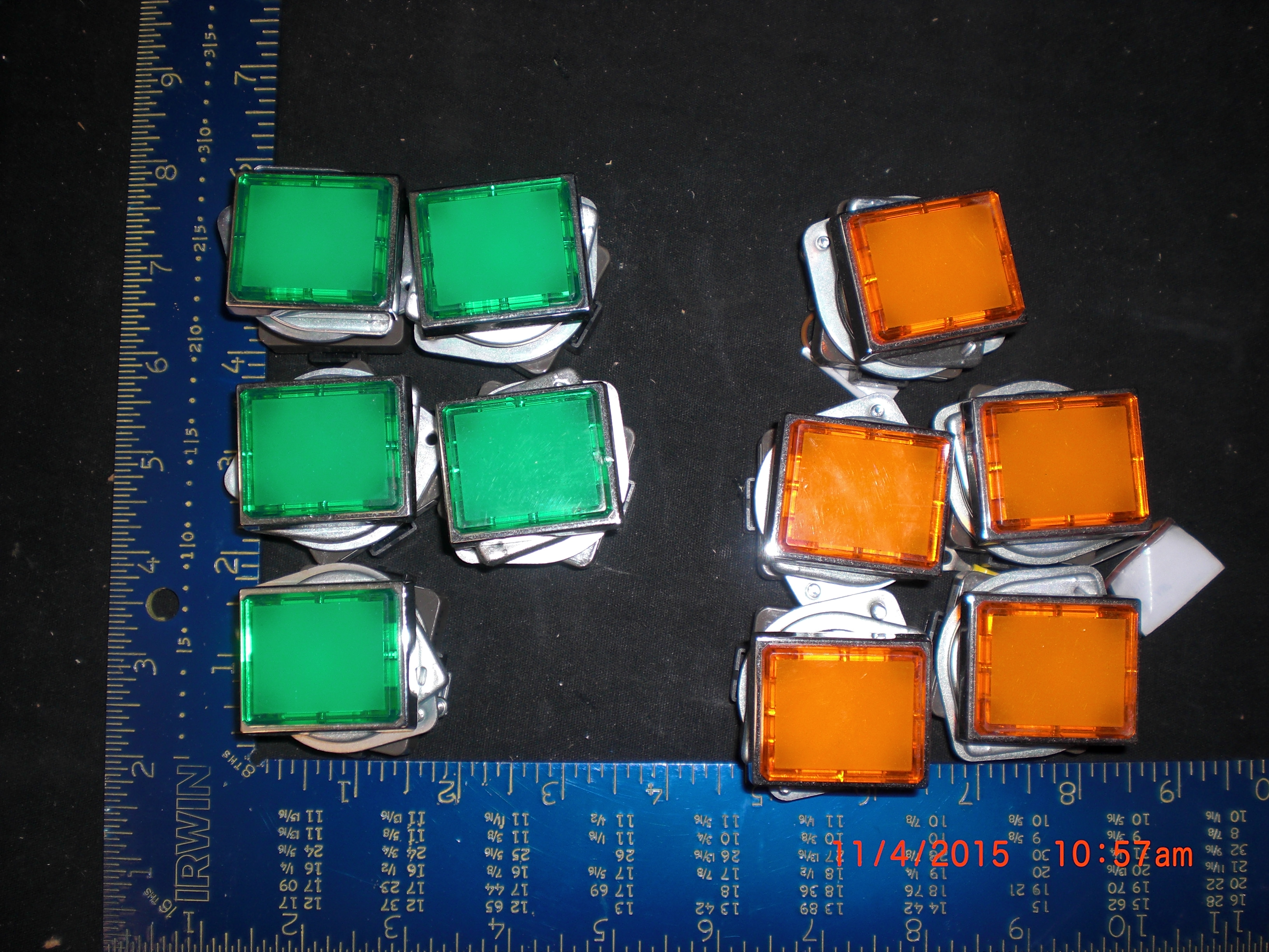 Lamp Indicator  LED 24VDC  IDEC UPQN  Panel Mount lot of 10 5 green 5 orange