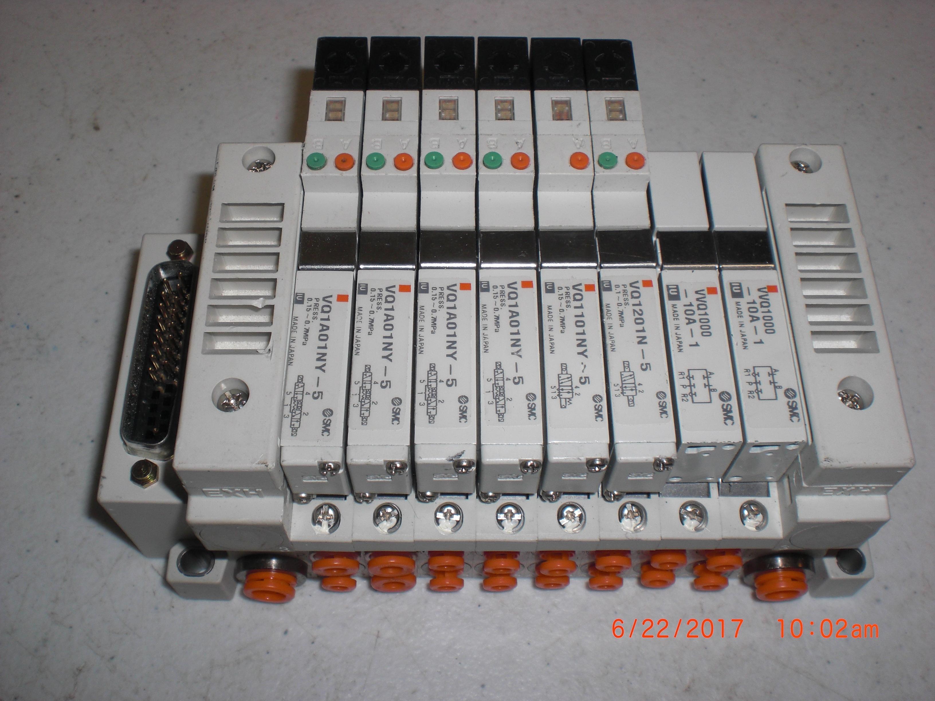 Valve  MANIFOLD,PNEUMATIC, 8 STATION, VQ1A01NY-5 SMC US20096