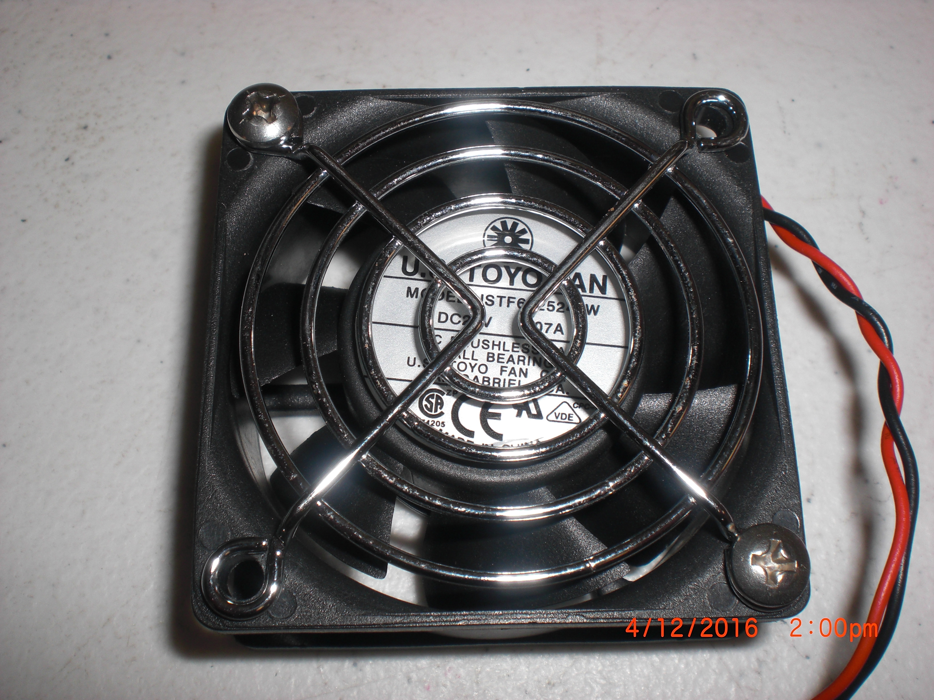 Fan  Muffin 24VDC US TOYO FAN USTF602524LW