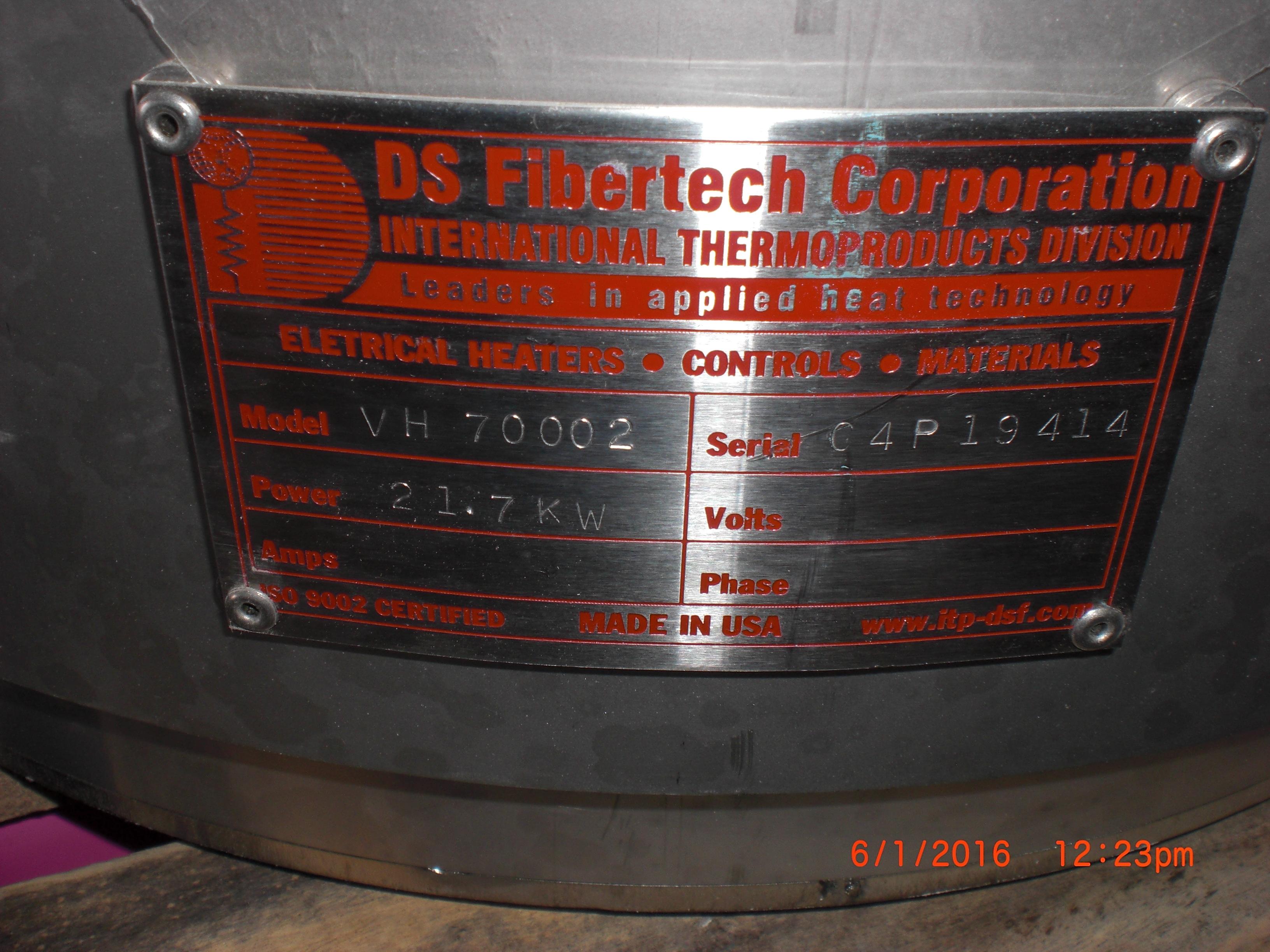 Heater SVG Thermco VTR7000 Furnace element 21.7 Kw  DS Fibertech VH 70002