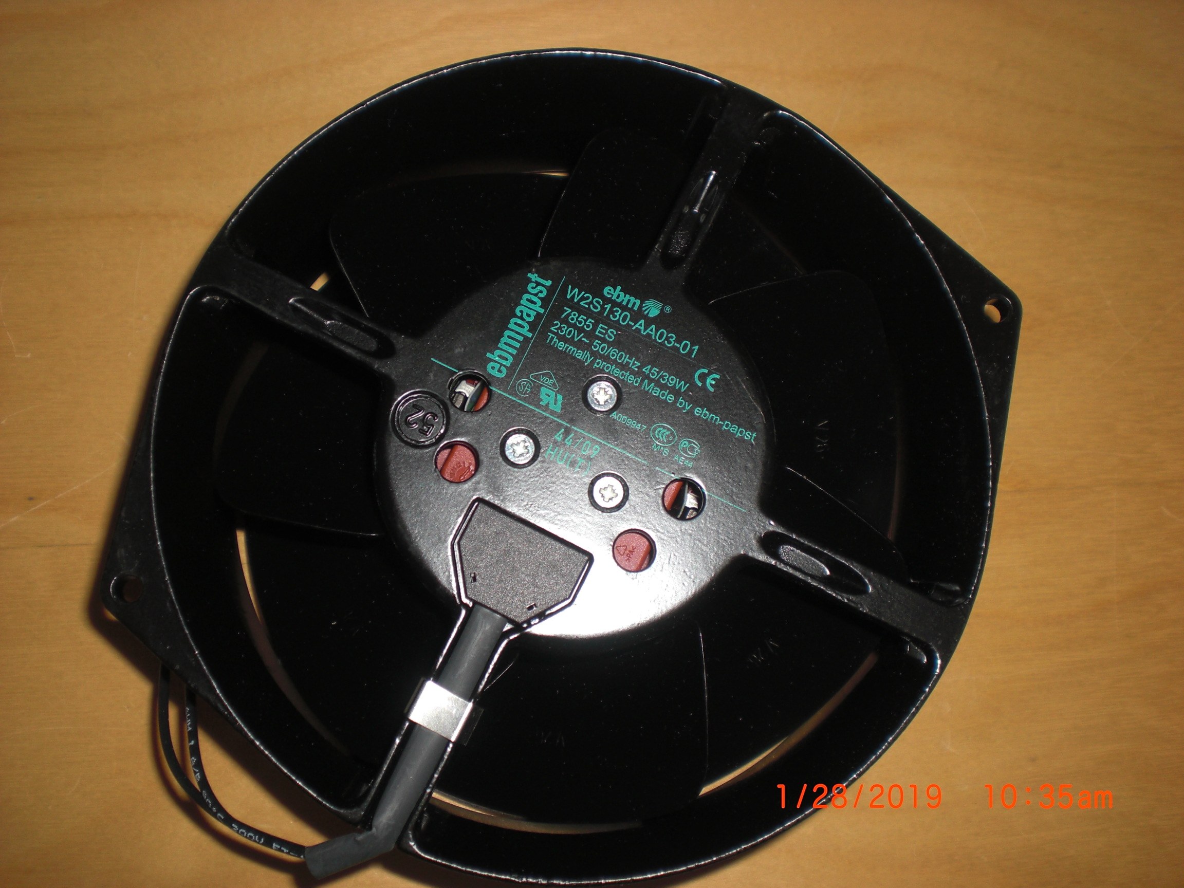 Fan EBMPAPST W2S130-AA03-01 230V 45W axial flow cooling FAN 7855 ES New