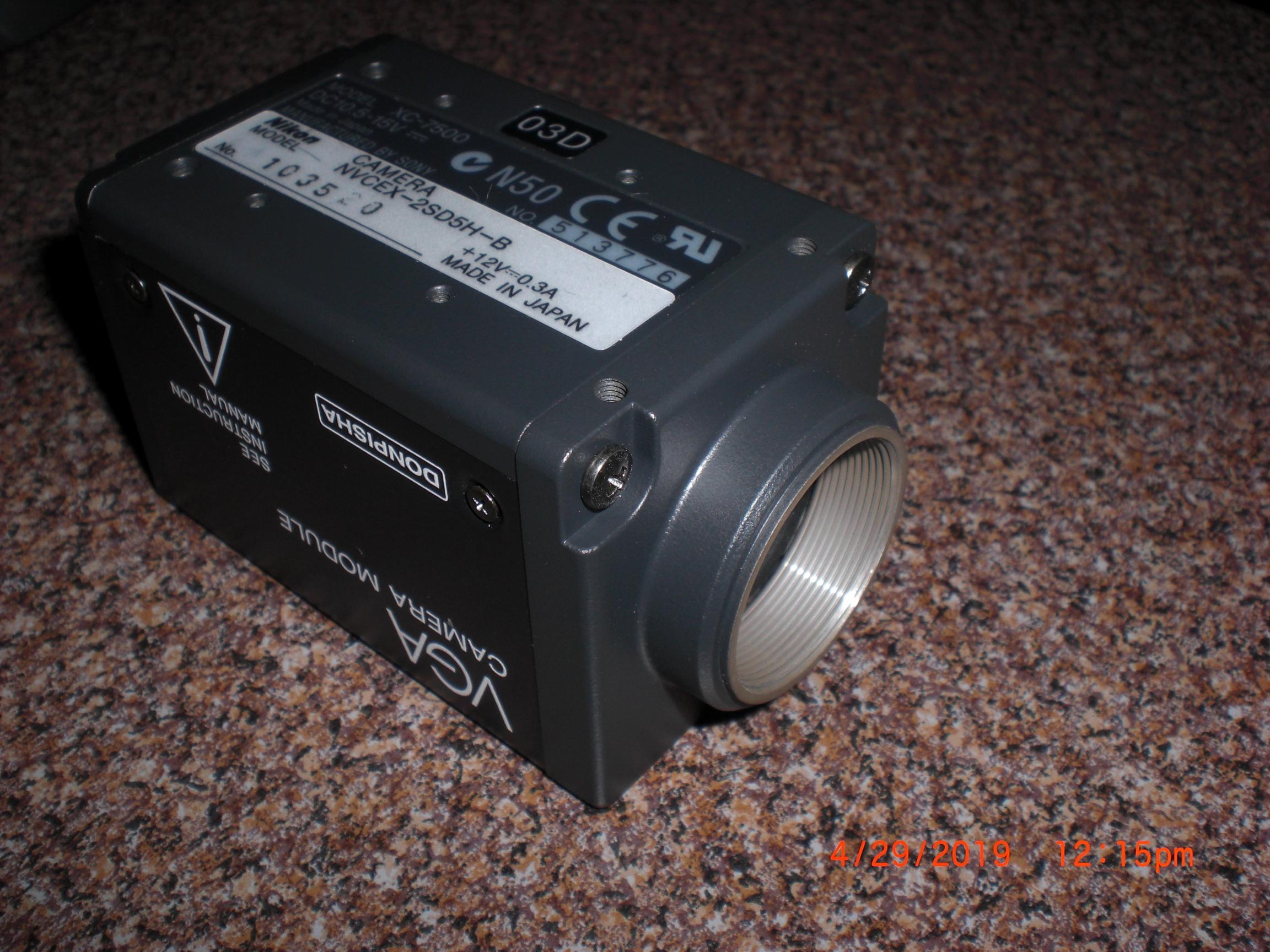 Camera SONY XC-7500 Nikon Model NVCEX-2SD5H-B