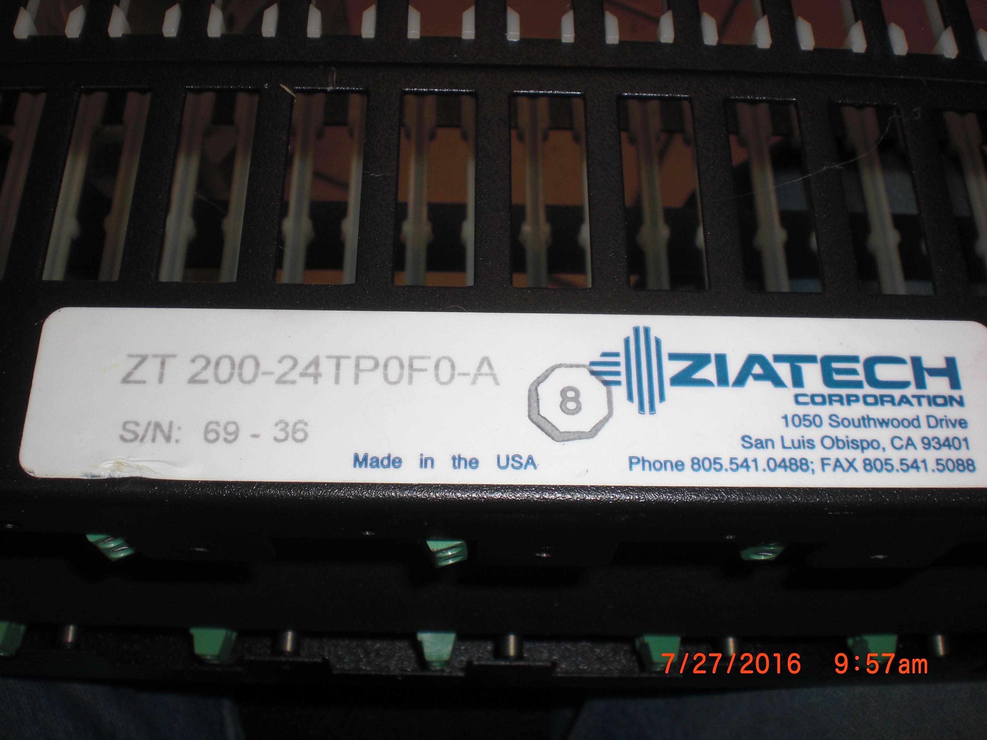 PLC card cage STD32 24 slot  ZIATECH ZT 200-24TP0F0-A Zt 200 embedded Computer
