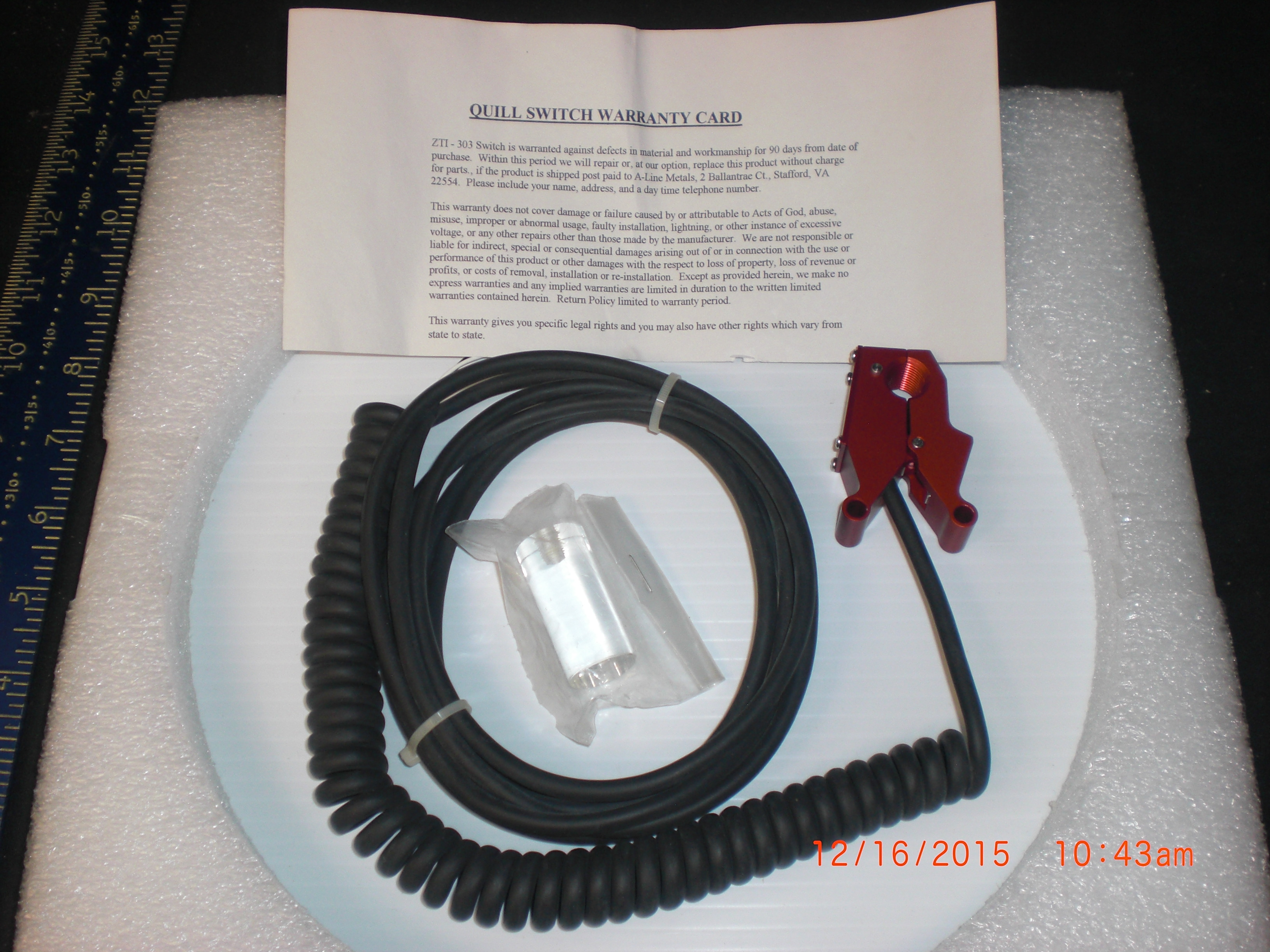 Sensor A-Line Metals  ZTI-303 Quill Current