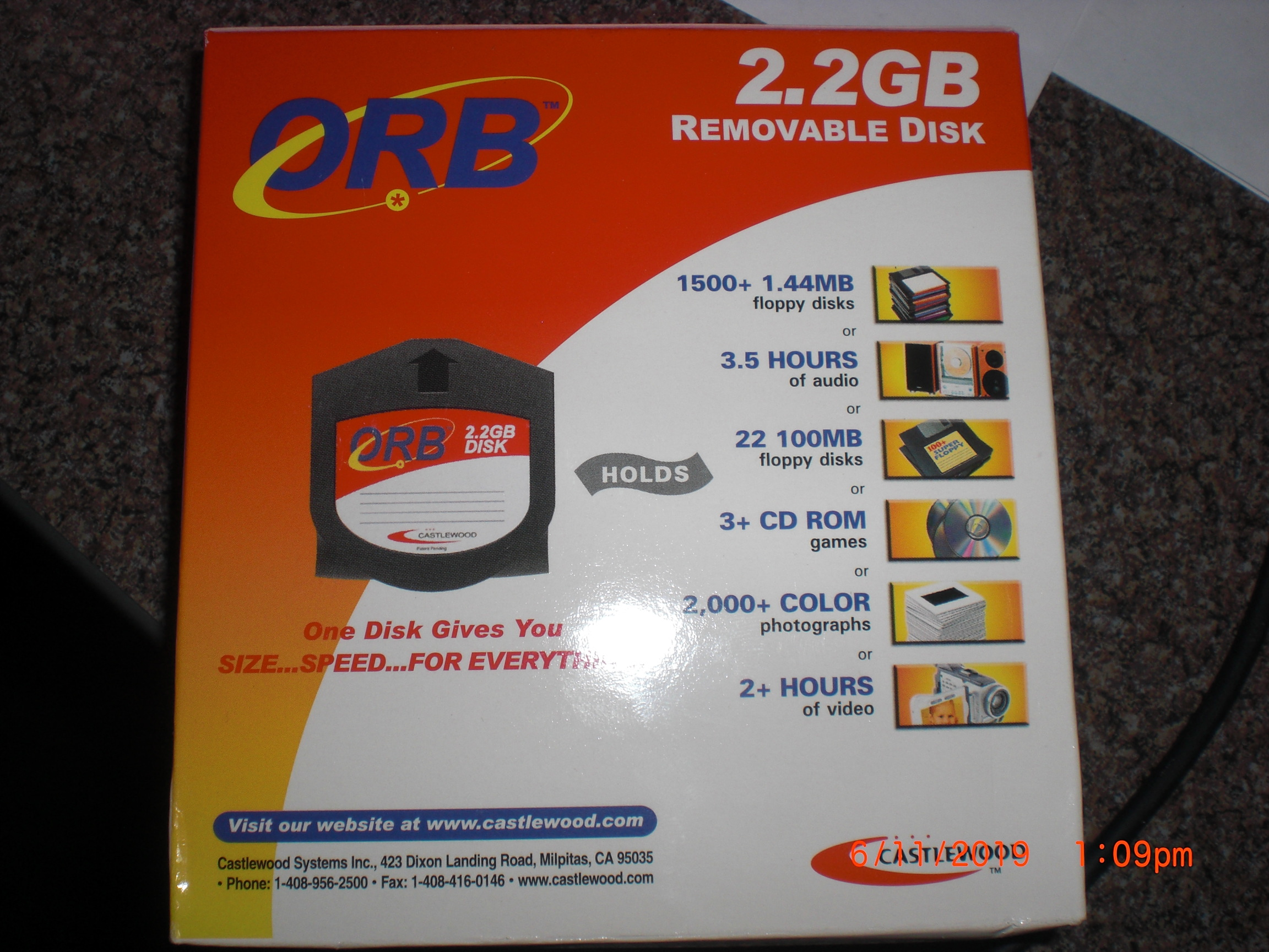 Computer Accessory Castlewood orb2.2 ORB 2,2GB removable Disk