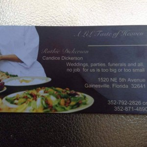 A Lil' Taste Of Heaven - Caterer / Waitstaff in Gainesville, Florida