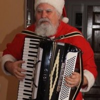 Accordion Playing Santa