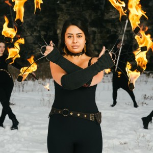 Adalia Mae - Fire Dancer in Oshkosh, Wisconsin