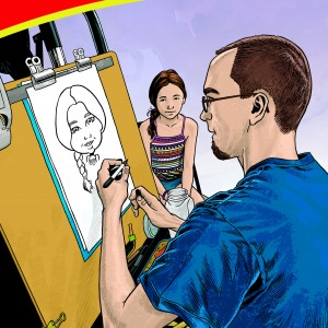 Adam Walmsley Art - Caricaturist / College Entertainment in Cabot, Pennsylvania