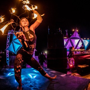 Ahlee Dee - Fire Dancer in Franklin Square, New York
