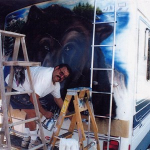 Air-O-Grafix Airbrushed T-shirts at parties - Airbrush Artist in Pasadena, California