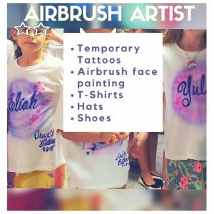 Airbrush Temporary Tattoo - Airbrush Artist in Houston, Texas