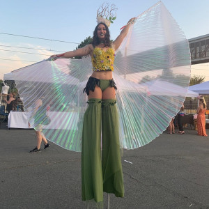 Angela Kollmer - Stilt Walker in Huntersville, North Carolina