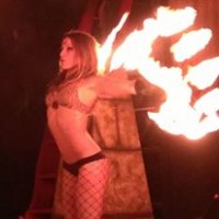 Ariane Origine - Fire Dancer in Santa Monica, California