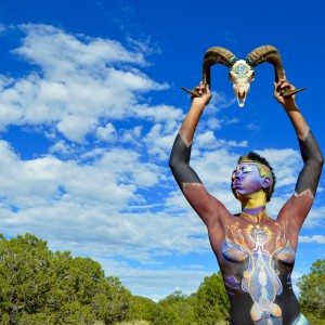 Awkward Fox Face and Body Paint - Body Painter in Santa Fe, New Mexico