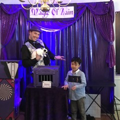 rabbit, stage, kids magic show, young child