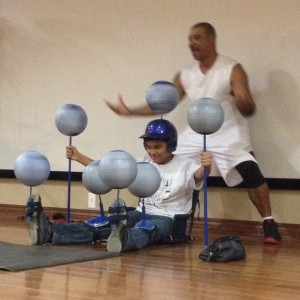 Basketball Spinning of The Spin-Man - Sports Exhibition / Children's Party Entertainment in Fuquay Varina, North Carolina