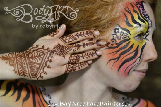 Hire bay area face painters henna artists face painter for Bay area tattoo