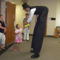 Big Sam - Stilt Walker in Wilmington, Ohio