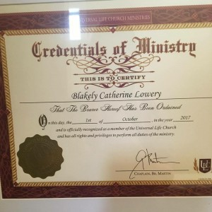Blakely Lowery Wedding Officiant - Wedding Officiant in Pelham, Alabama