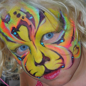 Blazin' Brush Strokes Face Painting - Face Painter in Hitchcock, Texas