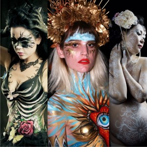 Bodypainting, face art, makeup by artist Evgola. - Body Painter / Halloween Party Entertainment in San Diego, California