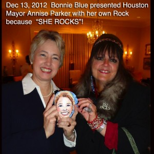 Bonnie Blue, the Rock Lady - Caricaturist in Houston, Texas