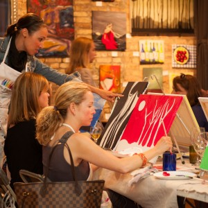 Bottle & Bottega Painting Parties - Arts & Crafts Party in Flower Mound, Texas