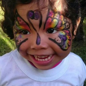 Butterflies Face Painting - Face Painter in Springfield, Virginia