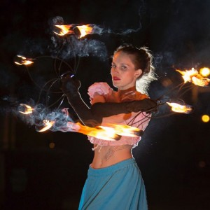 Cattiva Gattina (Art Through Light) - Fire Performer in St Louis, Missouri