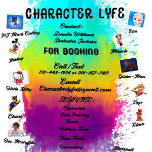 Character Lyfe - Costume Rentals / Costumed Character in Cordova, Tennessee