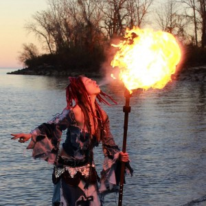 Charmaine Evonne - Fire Performer in New Orleans, Louisiana
