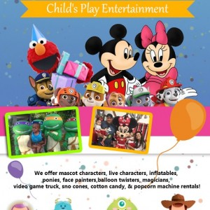 Child's Play Entertainment - Costume Rentals / Costumed Character in Cleveland, Ohio