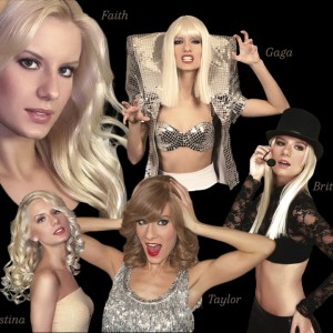 Christina's tribute to Gaga, Britney, Taylor, & Faith Hill - Lady Gaga Impersonator / Tim McGraw Impersonator in Las Vegas, Nevada