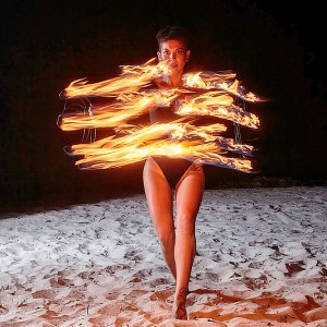 Cosmic Spin - Fire Dancer in Miami, Florida