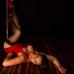 Dahlia Pole by Holly Merlot - Burlesque Entertainment / Dancer in St Charles, Missouri