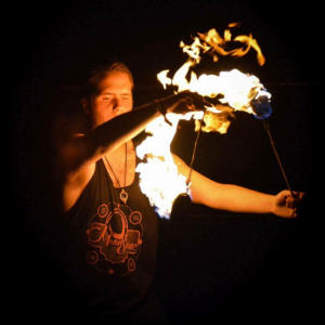 Dancing in Flames - Fire Performer in Detroit, Michigan