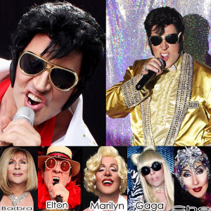 "Devon Cass as ""Young"" Elvis - Elvis Impersonator / Dolly Parton Impersonator in New York City, New York"