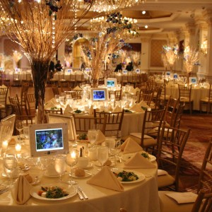 Digital Centerpiece -  Every Seat Counts - Party Decor in San Diego, California