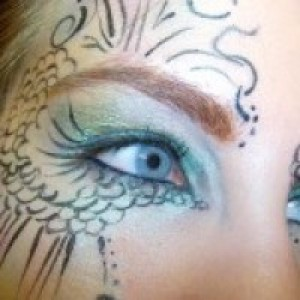 Dragon Lady Face and Body Painting